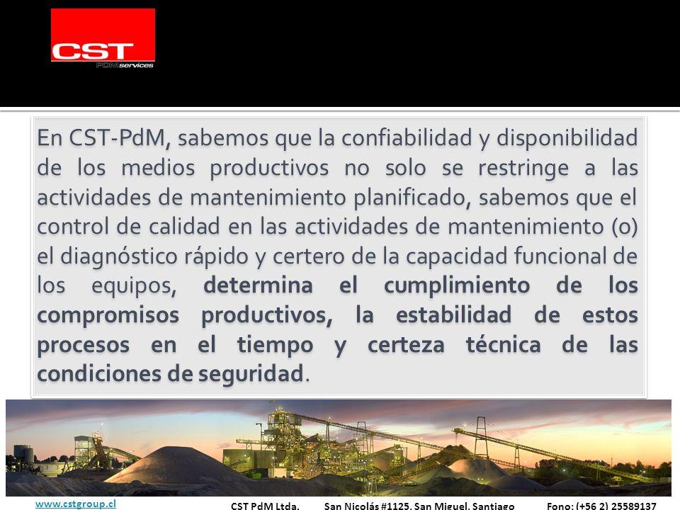 En CST-PdM, sabemos que la confiabilidad y disponibilidad de los medios productivos no solo se restringe a las actividades de mantenimiento planificad
