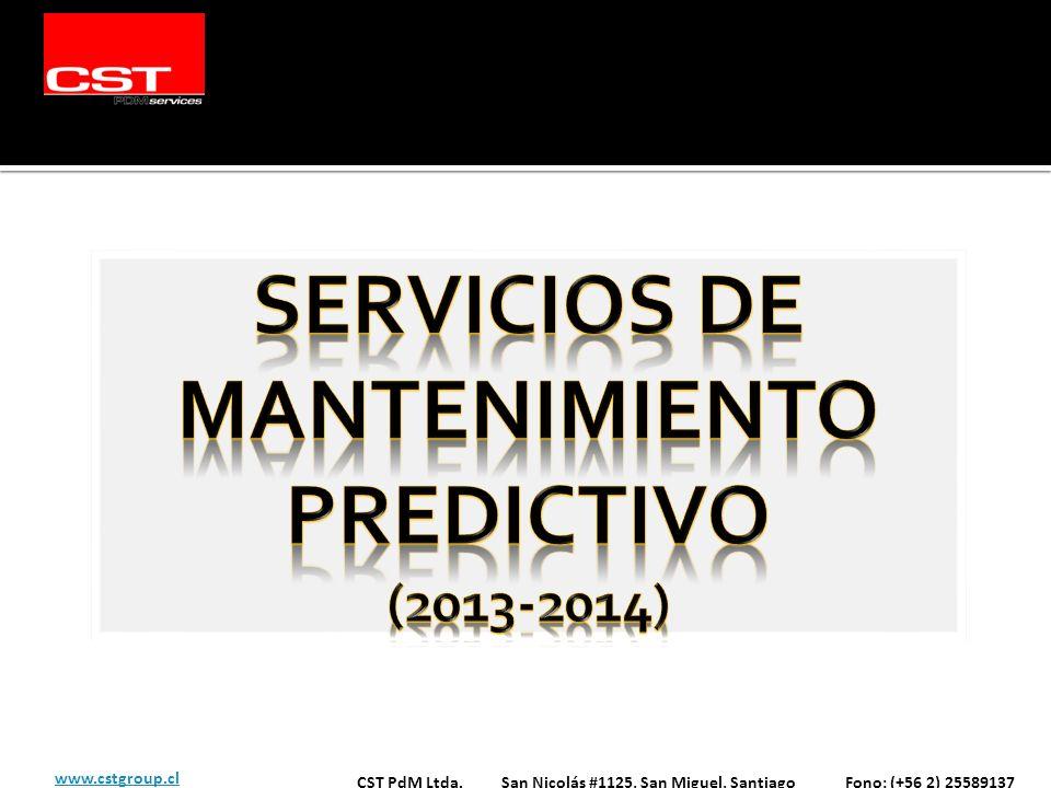 CST PdM Ltda. San Nicolás #1125, San Miguel, Santiago Fono: (+56 2) 25589137 www.cstgroup.cl