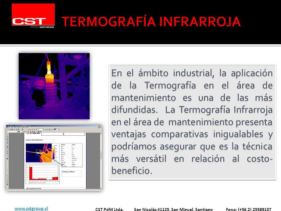 En el ámbito industrial, la aplicación de la Termografía en el área de mantenimiento es una de las más difundidas. La Termografía Infrarroja en el áre