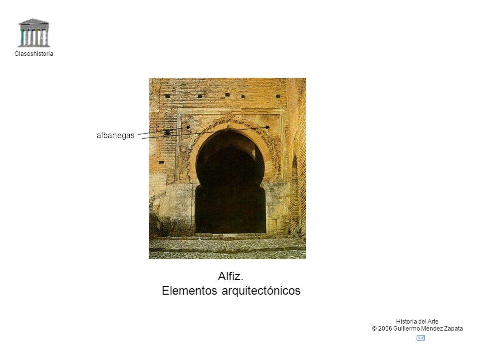 Claseshistoria Historia del Arte © 2006 Guillermo Méndez Zapata Alfiz. Elementos arquitectónicos albanegas