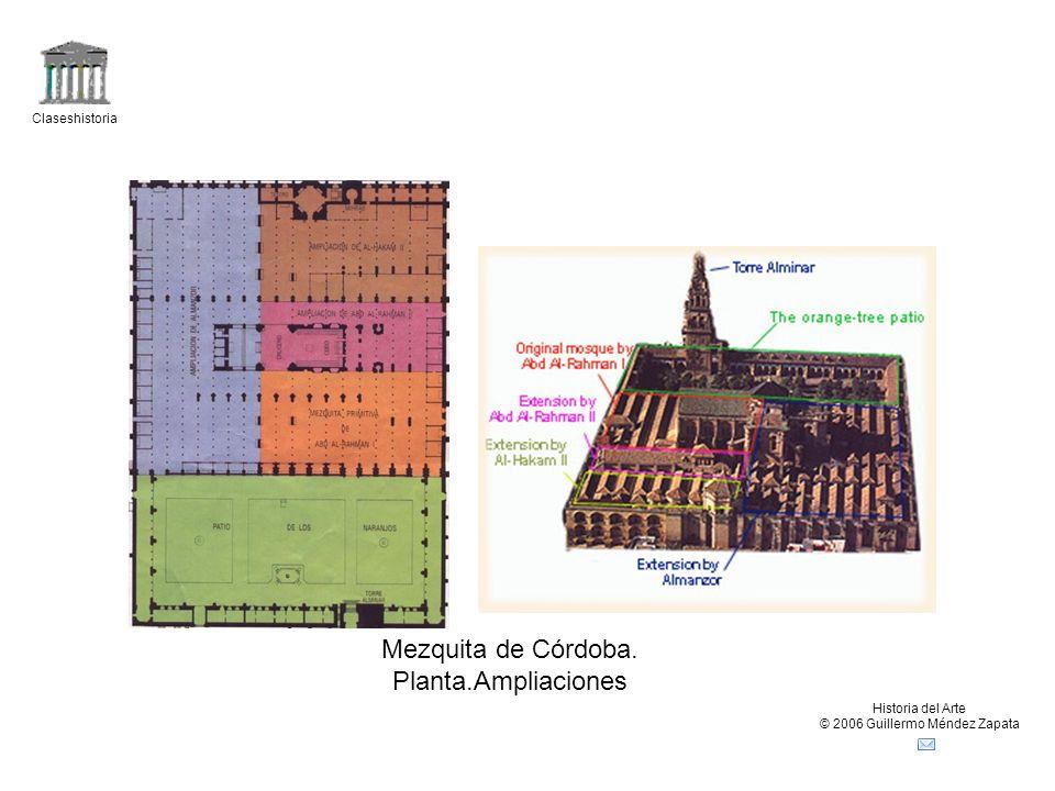 Claseshistoria Historia del Arte © 2006 Guillermo Méndez Zapata Mezquita de Córdoba. Planta.Ampliaciones