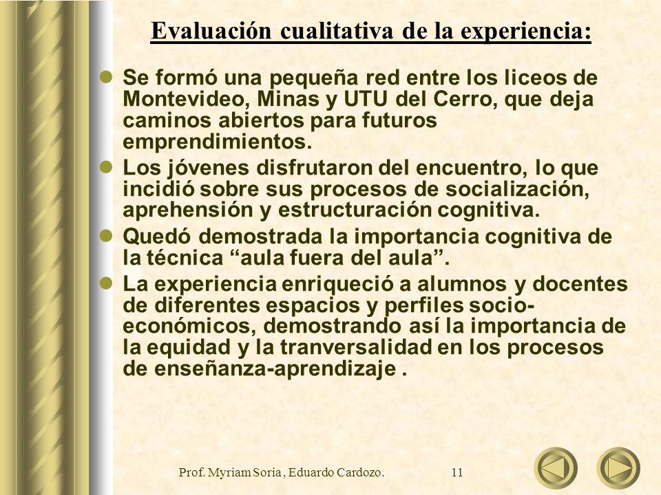 Prof.Myriam Soria, Eduardo Cardozo.