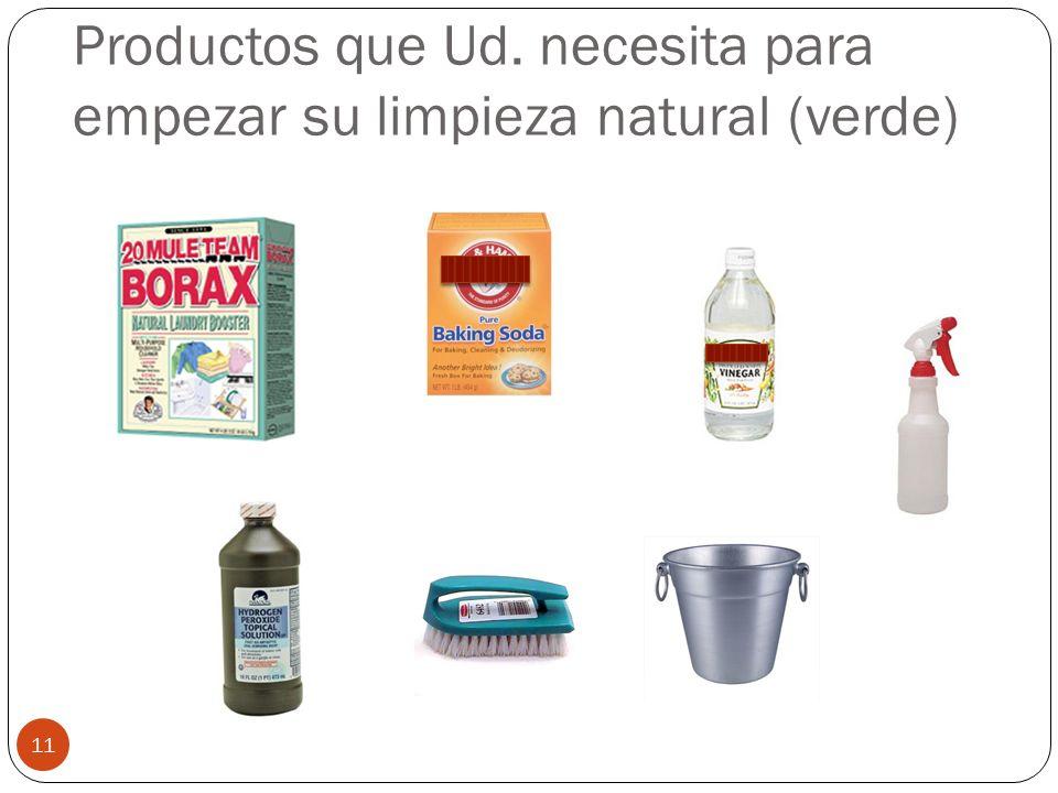 Productos que Ud. necesita para empezar su limpieza natural (verde) 11