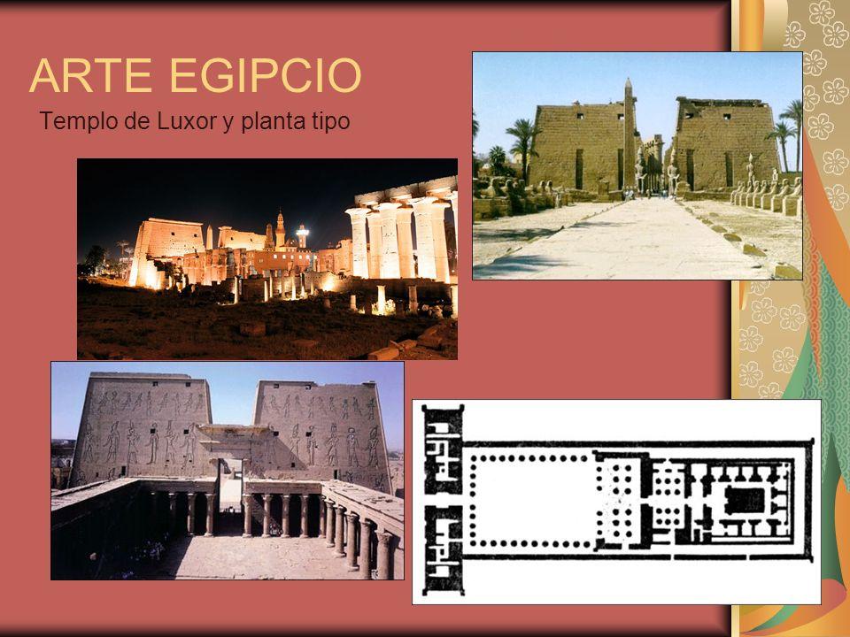 Templo de Luxor y planta tipo