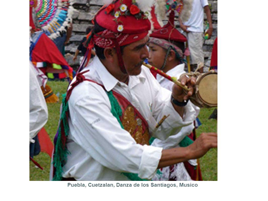 Puebla, Cuetzalan, Danza de los Santiagos, Musico