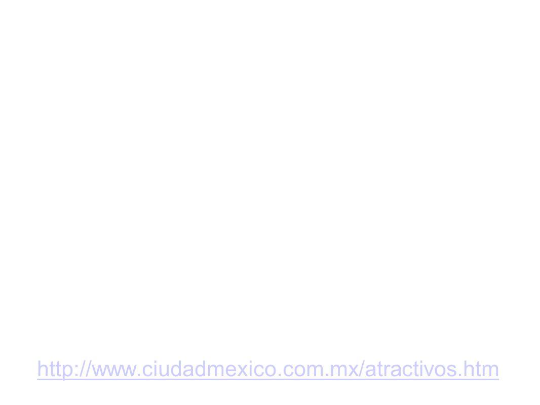 http://www.ciudadmexico.com.mx/atractivos.htm