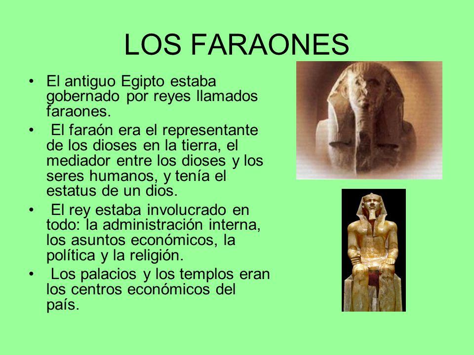 LOS FARAONES El antiguo Egipto estaba gobernado por reyes llamados faraones.