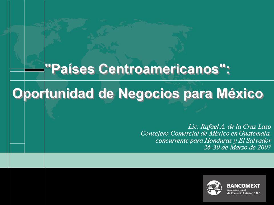 GUATEMALAEL SALVADOR Total: 2,159 / 2,848 Número de Empresas Mexicanas Exportadoras a C.A.-3, 2004 / 2005 HONDURAS Total: 1,294 / 1,952 Total: 911 / 1,140 826 / 1,029 513 / 590 TLCs.