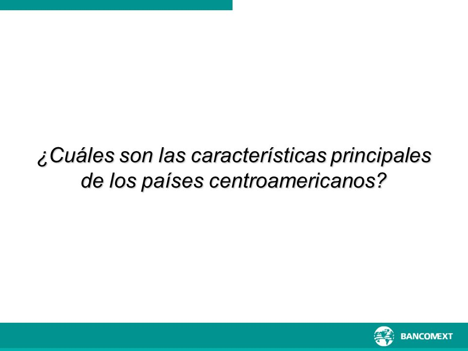 ¿Cuáles son las características principales de los países centroamericanos?