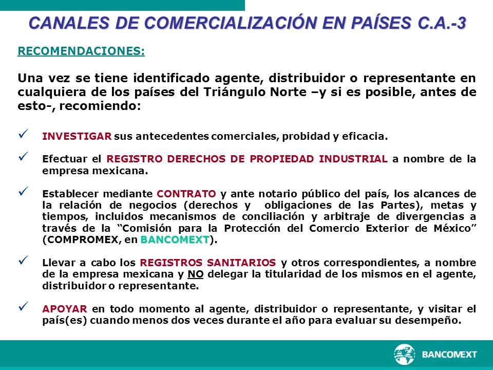 INVESTIGAR sus antecedentes comerciales, probidad y eficacia. Efectuar el REGISTRO DERECHOS DE PROPIEDAD INDUSTRIAL a nombre de la empresa mexicana. B