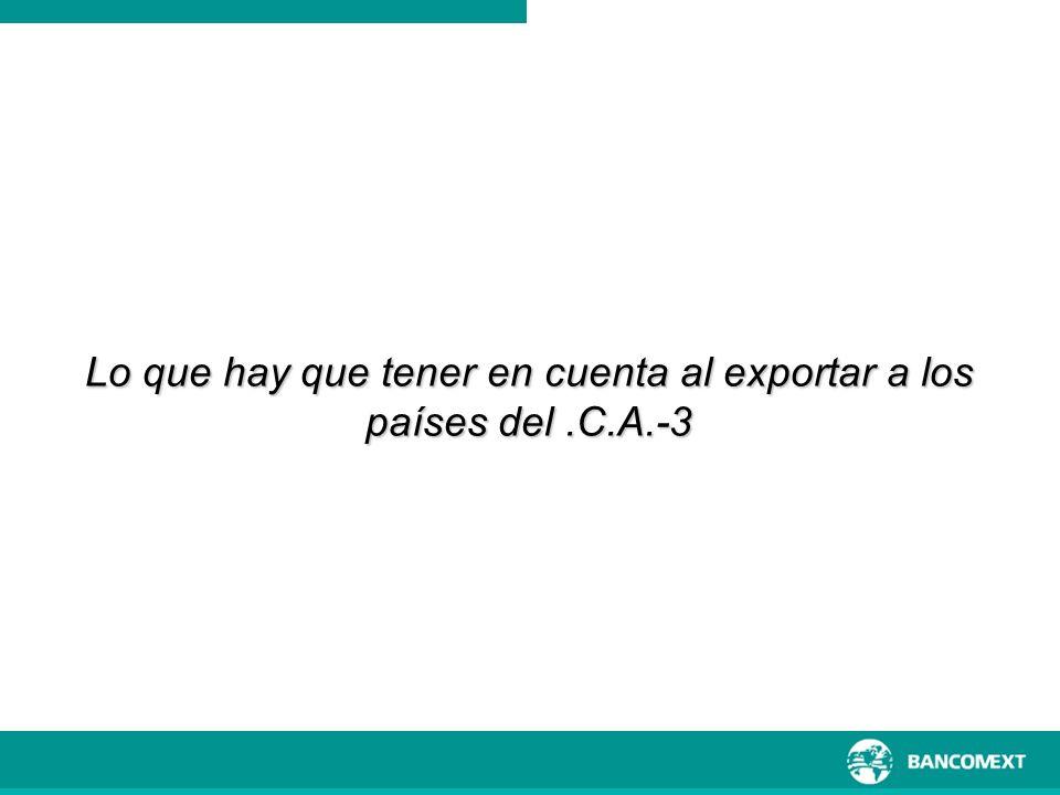Lo que hay que tener en cuenta al exportar a los países del.C.A.-3