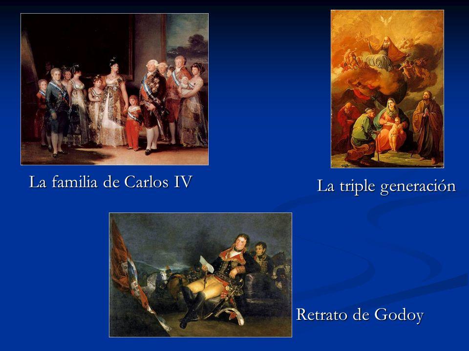 Retrato de Godoy La familia de Carlos IV La triple generación