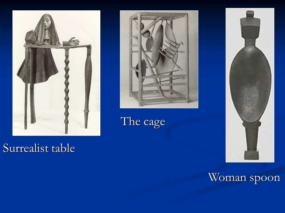Surrealist table The cage Woman spoon