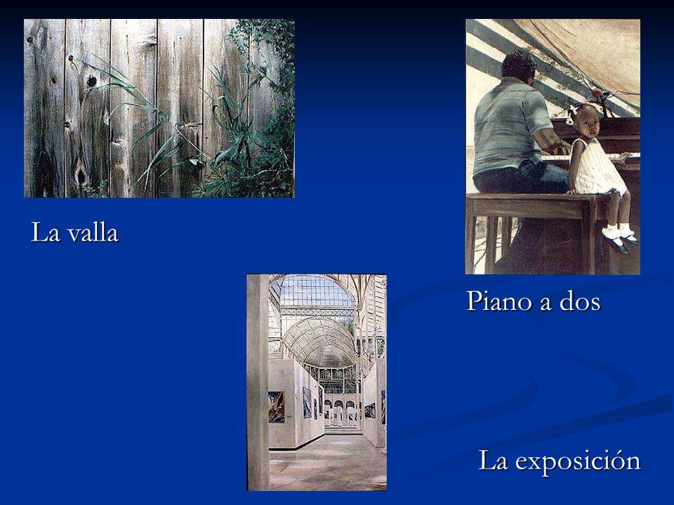 La exposición La valla Piano a dos
