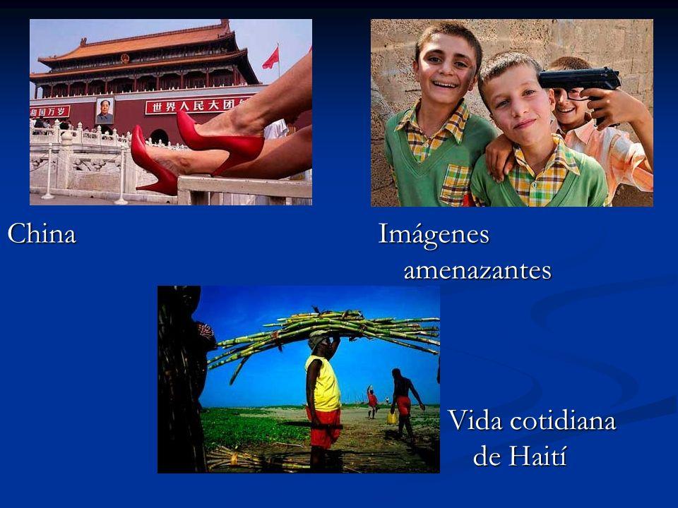 China Imágenes amenazantes Vida cotidiana de Haití