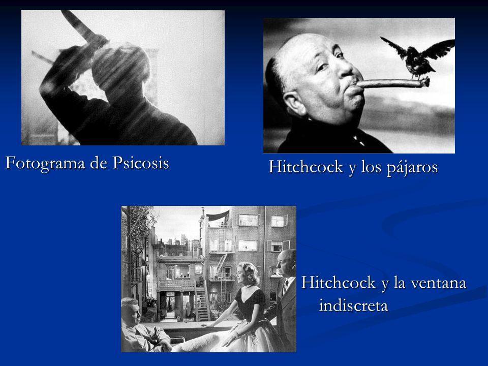 Fotograma de Psicosis Hitchcock y los pájaros Hitchcock y la ventana indiscreta