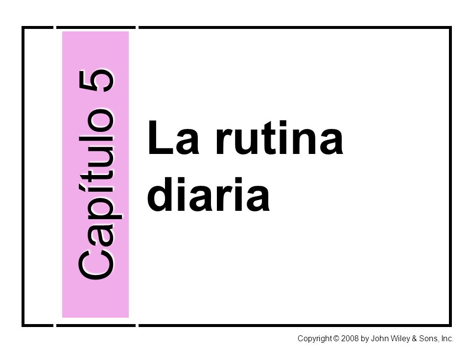 Capítulo 5 Capítulo 5 La rutina diaria Así se dice Así se forma Cultura La rutina diaria El trabajo Reflexive verbs Adverbs The preterit of regular verbs and ser/ir The preterit of regular verbs and ser/ir Direct-object pronouns España contemporánea: Herencia y modernidad España contemporánea: Herencia y modernidad Los días festivos Artes ornamentales: Los azulejos de España