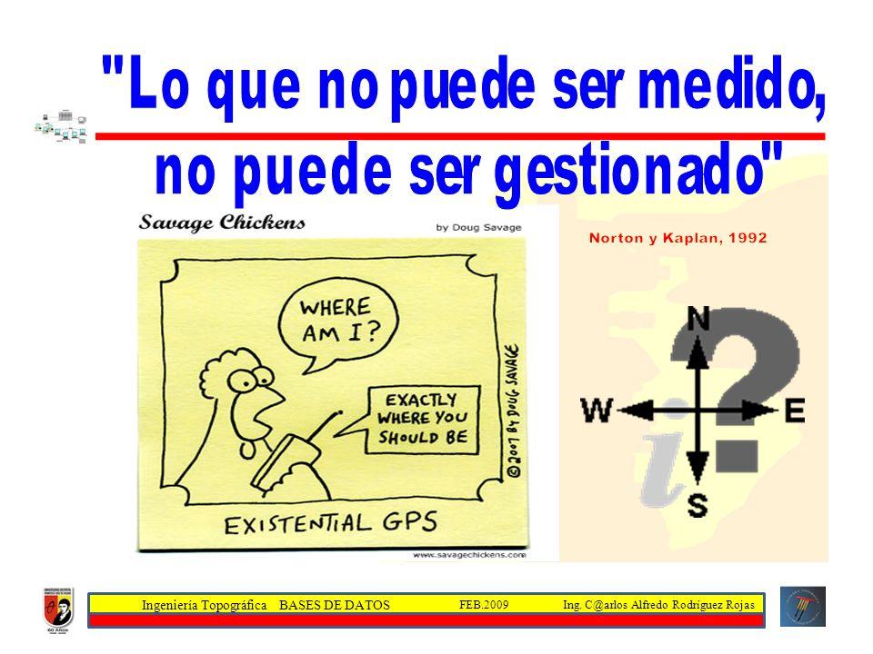 Ingeniería Topográfica BASES DE DATOS Ing. C@arlos Alfredo Rodríguez RojasFEB.2009
