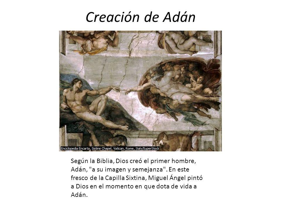 Creación de Adán Según la Biblia, Dios creó el primer hombre, Adán,