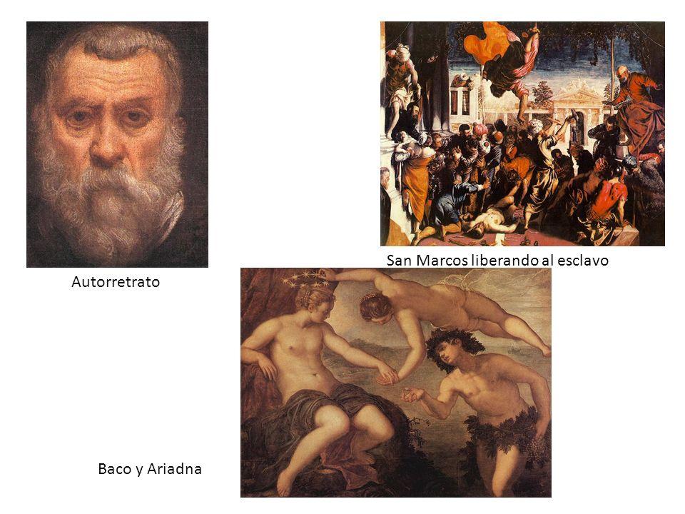 Autorretrato San Marcos liberando al esclavo Baco y Ariadna