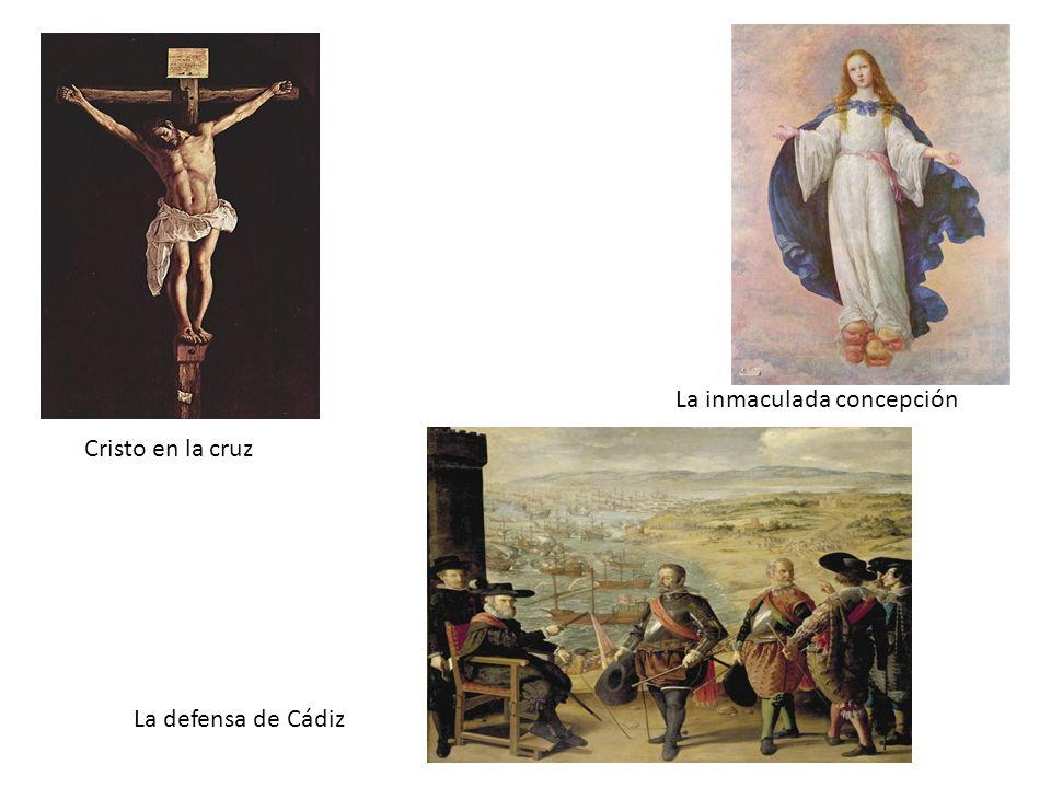 Cristo en la cruz La defensa de Cádiz La inmaculada concepción