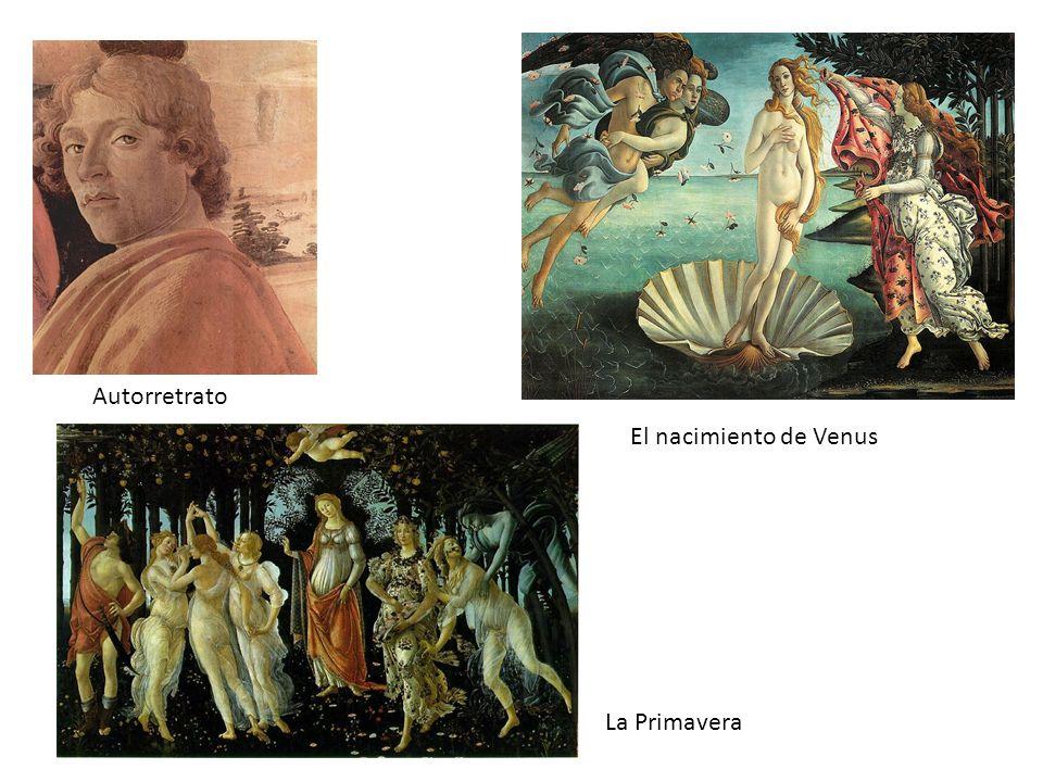 Autorretrato El nacimiento de Venus La Primavera