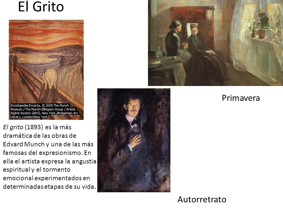 El Grito El grito (1893) es la más dramática de las obras de Edvard Munch y una de las más famosas del expresionismo. En ella el artista expresa la an