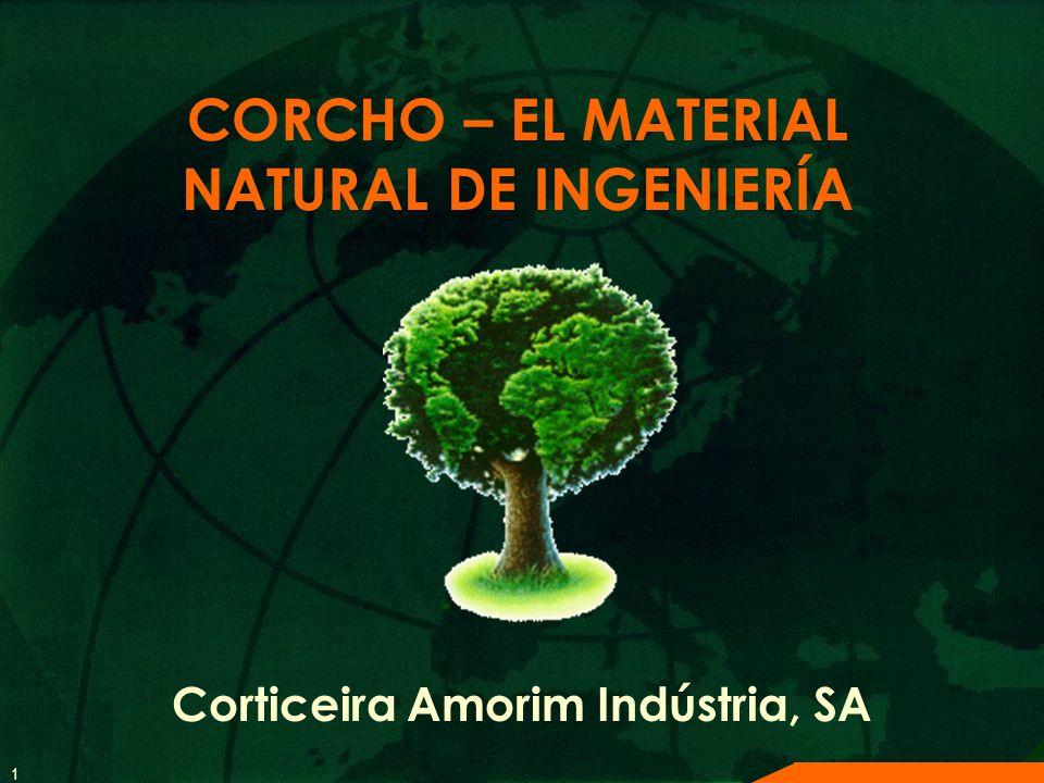 1 CORCHO – EL MATERIAL NATURAL DE INGENIERÍA Corticeira Amorim Indústria, SA