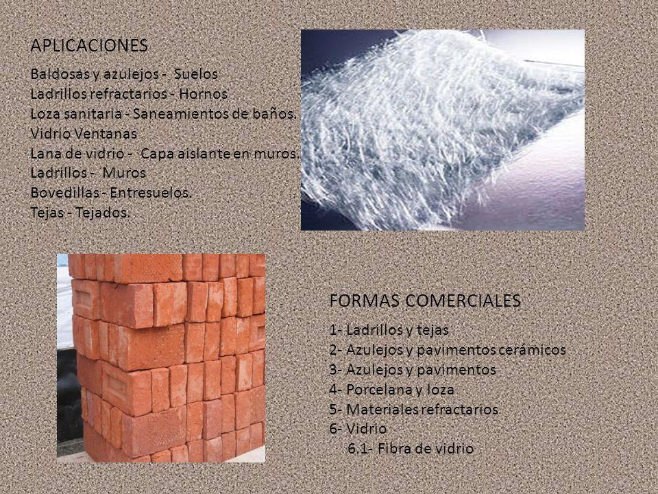 Baldosas y azulejos - Suelos Ladrillos refractarios - Hornos Loza sanitaria - Saneamientos de baños.