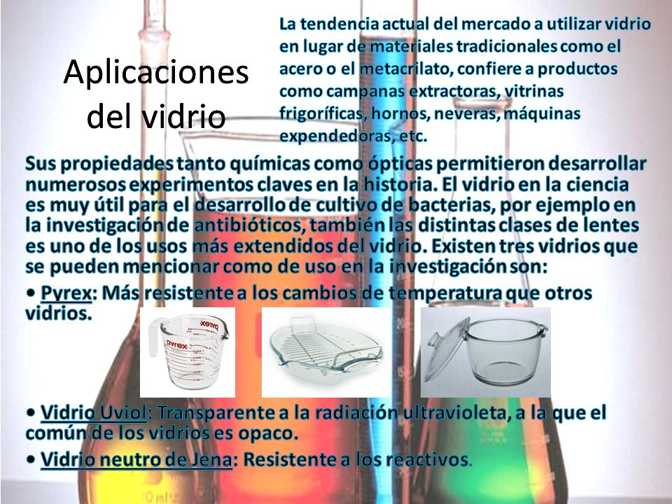 Aplicaciones del vidrio