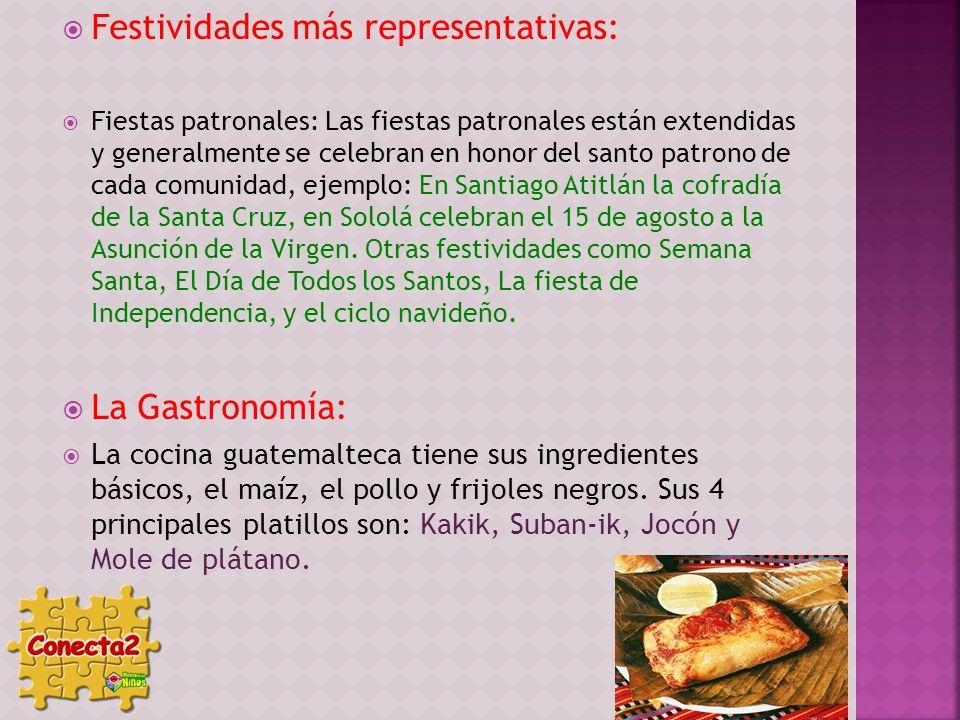 Festividades más representativas: Fiestas patronales: Las fiestas patronales están extendidas y generalmente se celebran en honor del santo patrono de