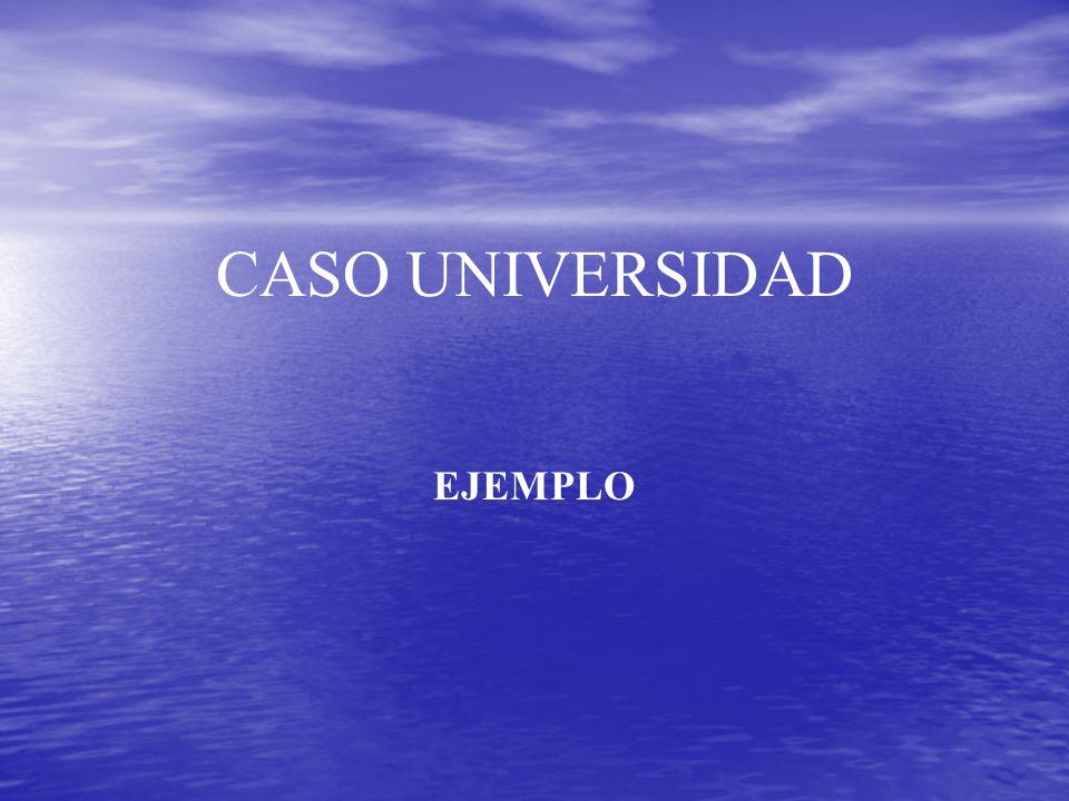 CASO UNIVERSIDAD EJEMPLO