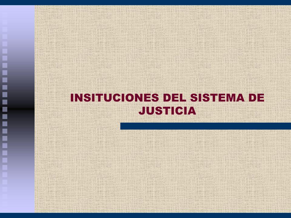 INSITUCIONES DEL SISTEMA DE JUSTICIA