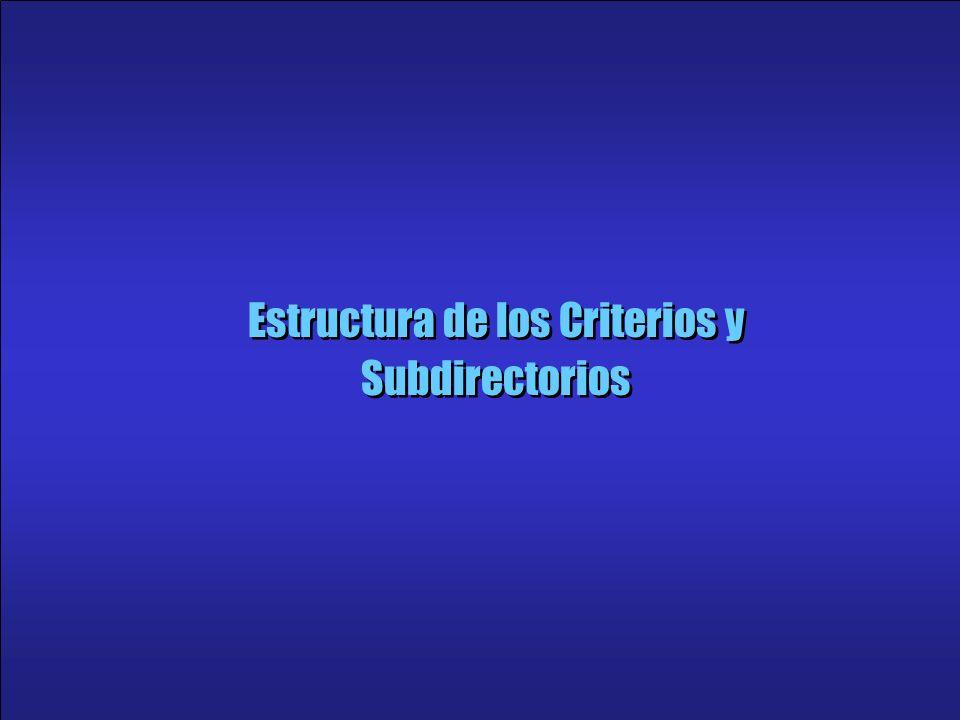 19 Estructura de los Criterios y Subdirectorios
