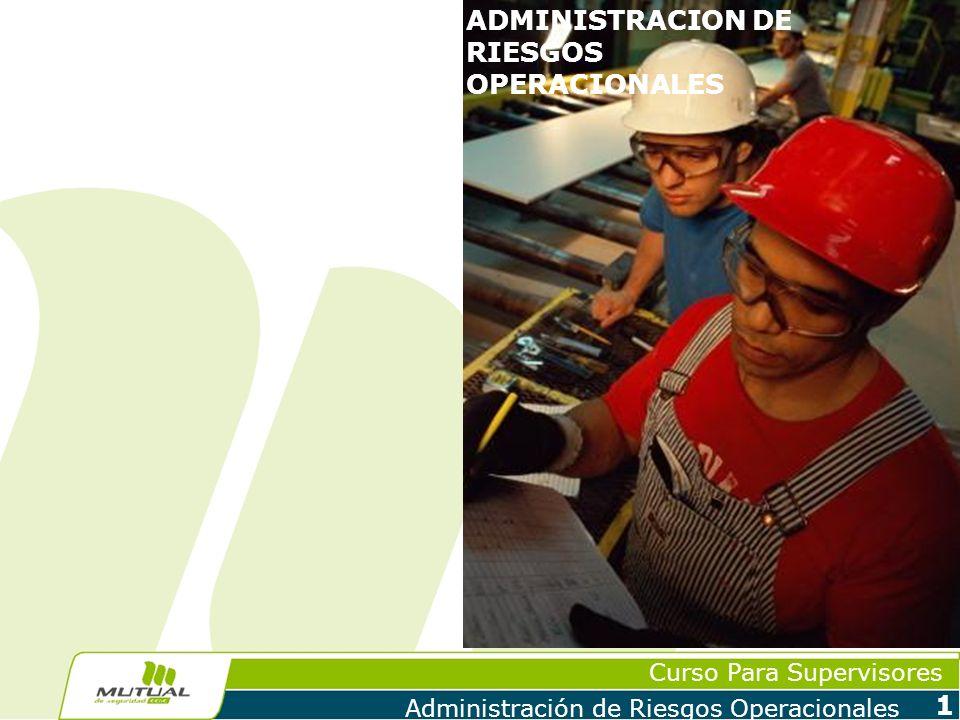 Curso Para Supervisores Administración de Riesgos Operacionales 2 ADMINISTRACION DE RIESGOS OPERACIONALES Conceptos y Definiciones Evolución de la Administración de Riesgos Situación de los Mercados Satisfacción de Clientes Gestión de Ventas Programas de Prevención de Riesgos Sistemas de Gestión Análisis de Costos Capacitación y Competencias Futuro de la Administración de Riesgos