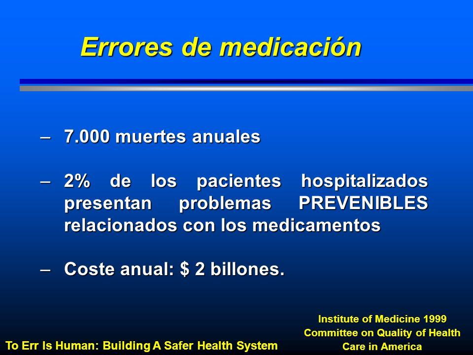 Percentatge Errores de medicación: Proceso afectado Otero et al.