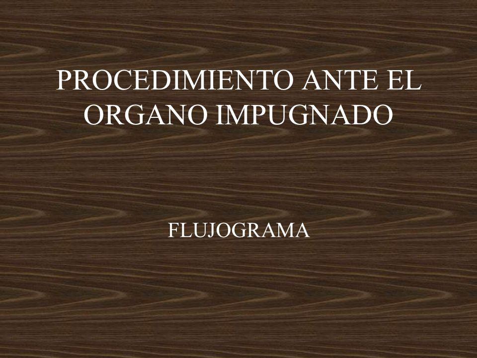 PROCEDIMIENTO ANTE EL ORGANO IMPUGNADO FLUJOGRAMA