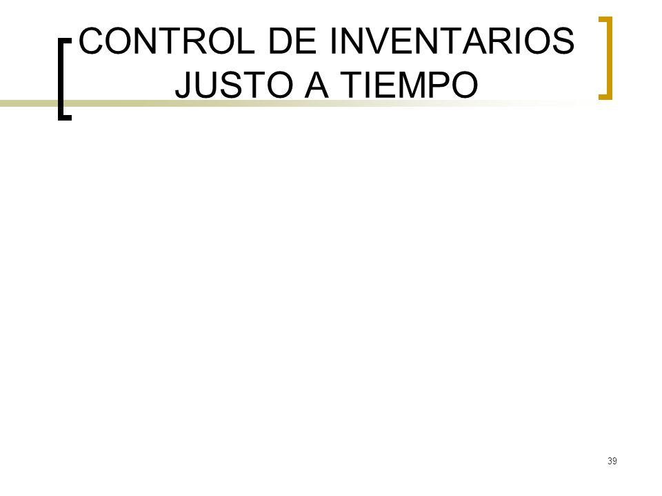 39 CONTROL DE INVENTARIOS JUSTO A TIEMPO