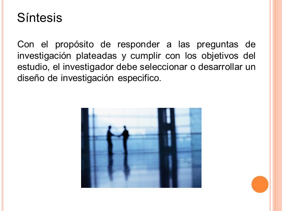 Diseño de investigación Tipos No experimentales Transeccionales o transversales.