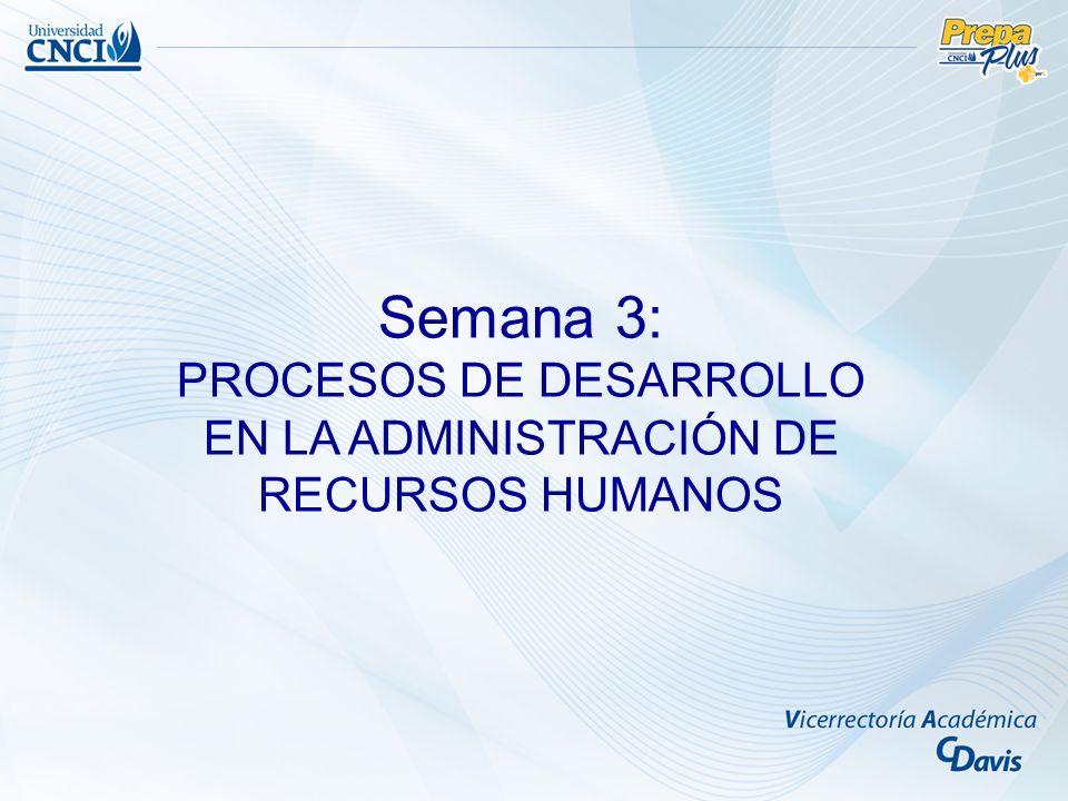 Procesos de desarrollo en la administración de recursos humanos Objetivo: Comprender los principales métodos y técnicas de capacitación del personal dentro de las organizaciones.