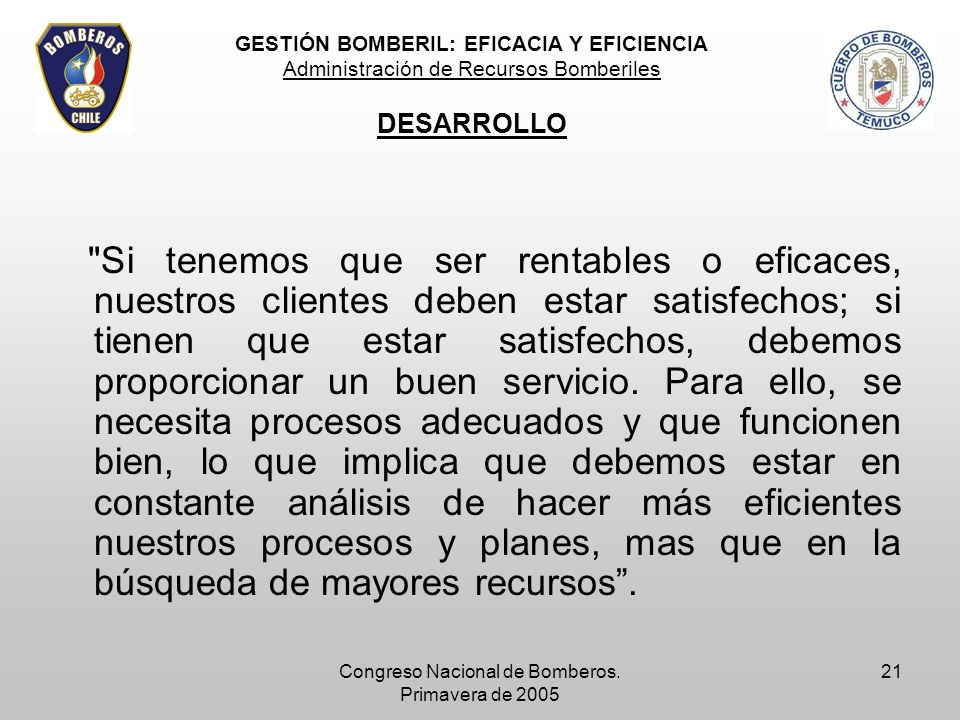 Congreso Nacional de Bomberos. Primavera de 2005 21