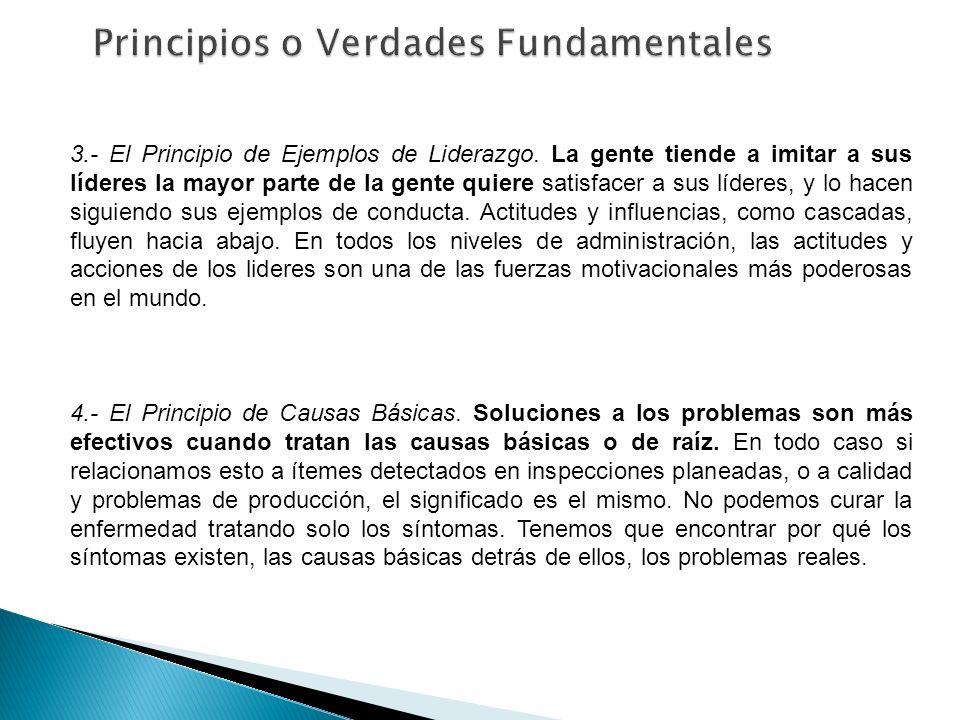 3.- El Principio de Ejemplos de Liderazgo. La gente tiende a imitar a sus líderes la mayor parte de la gente quiere satisfacer a sus líderes, y lo hac