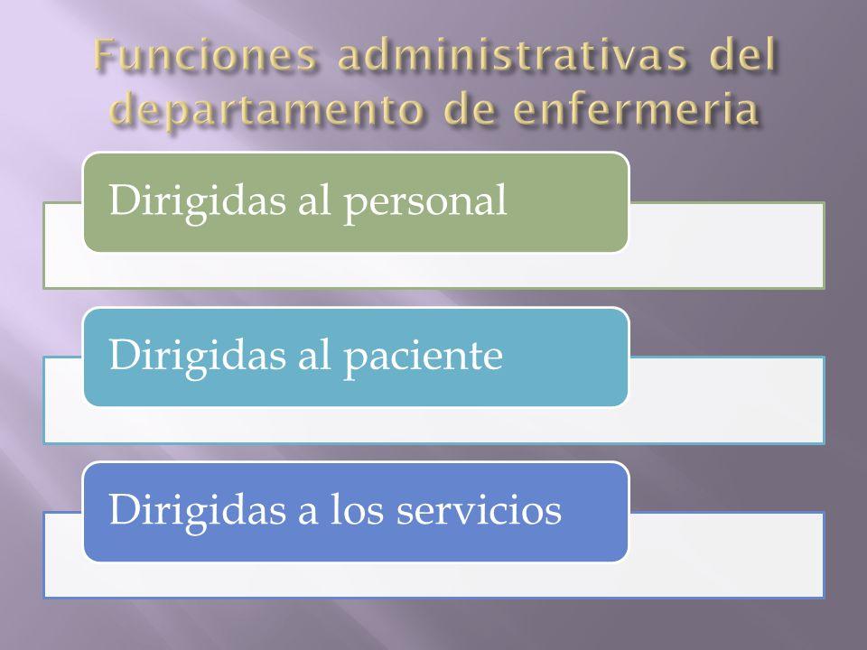 Dirigidas al personalDirigidas al pacienteDirigidas a los servicios