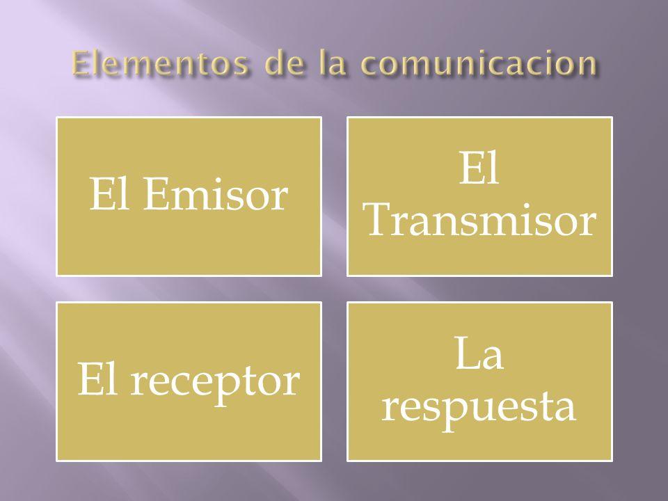 El Emisor El Transmisor El receptor La respuesta