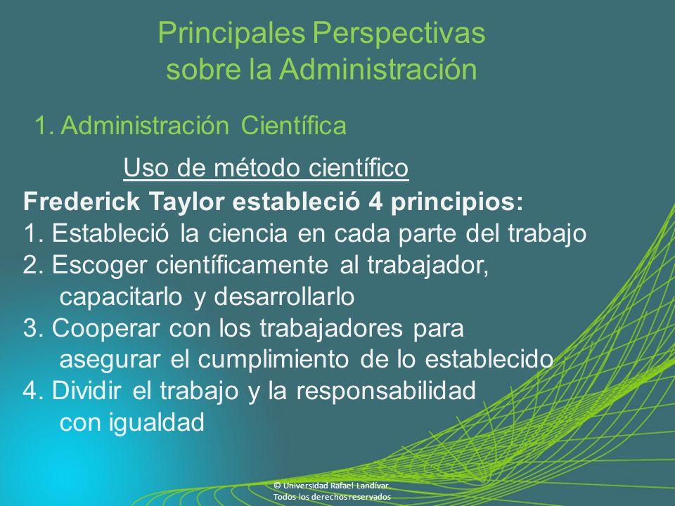 Principales Perspectivas sobre la Administración 1.