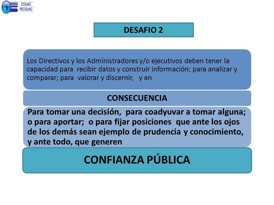 DESAFIO 2 Los Directivos y los Administradores y/o ejecutivos deben tener la capacidad para recibir datos y construir información; para analizar y com
