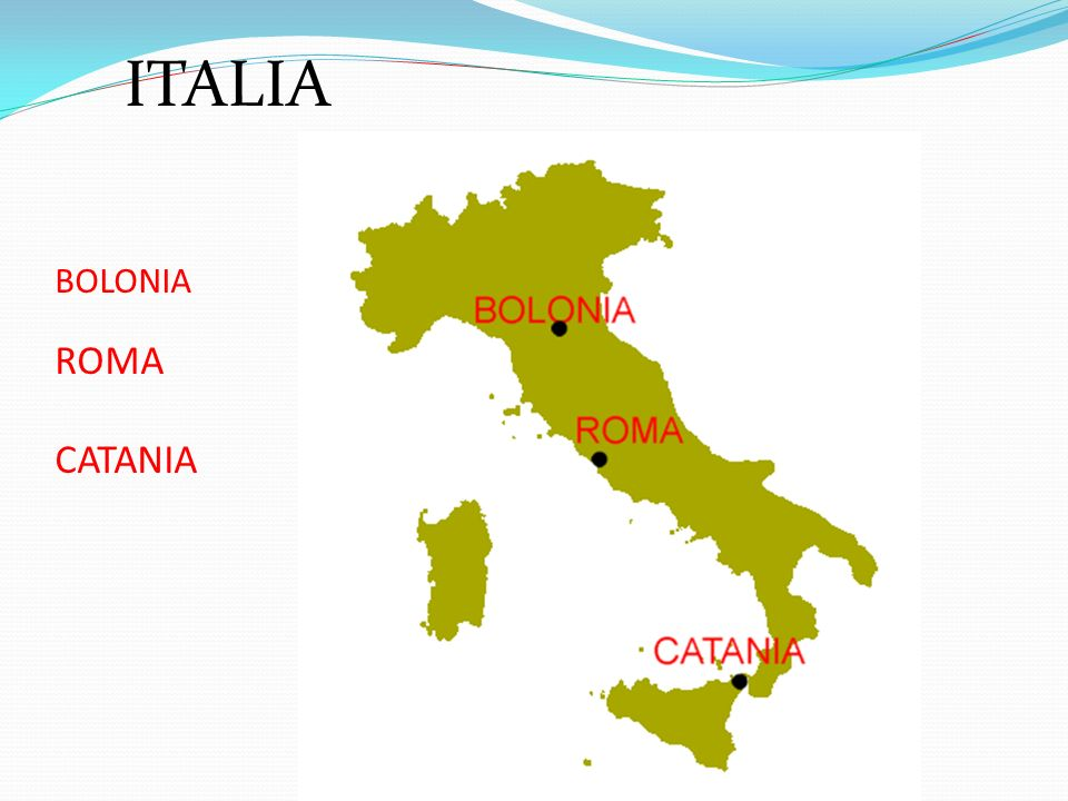 BOLONIA ROMA CATANIA ITALIA