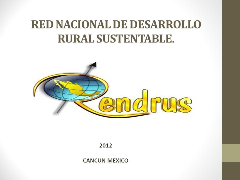 RED NACIONAL DE DESARROLLO RURAL SUSTENTABLE. 2012 CANCUN MEXICO