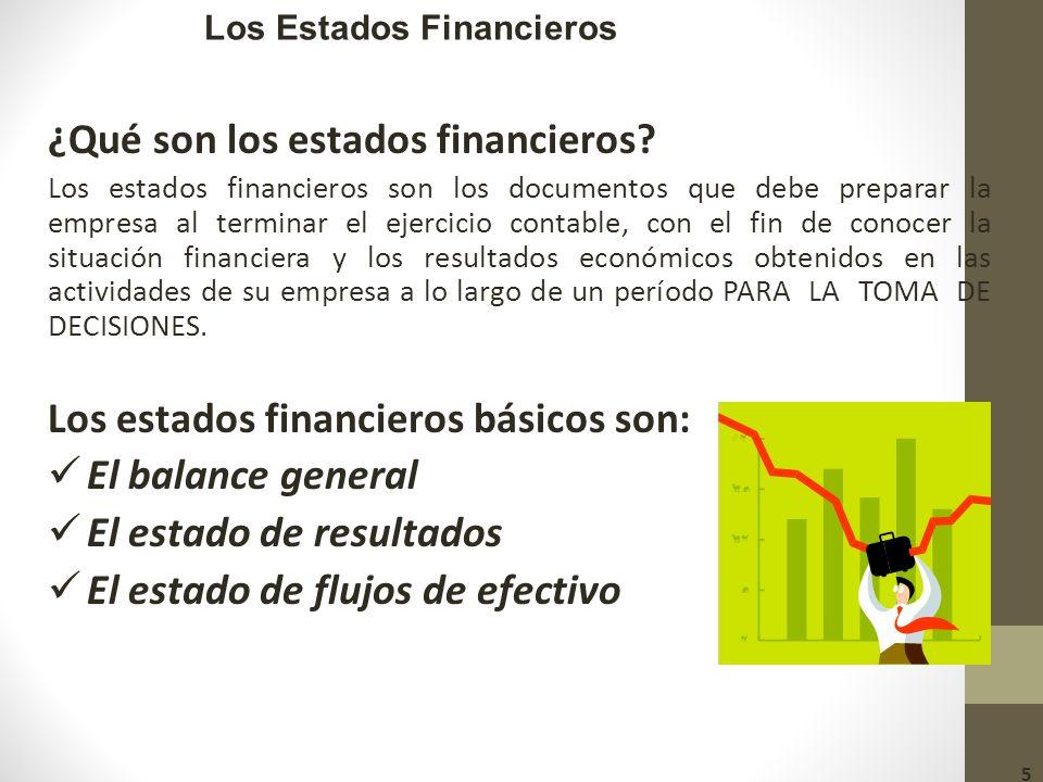 Los Estados Financieros ¿Qué son los estados financieros.