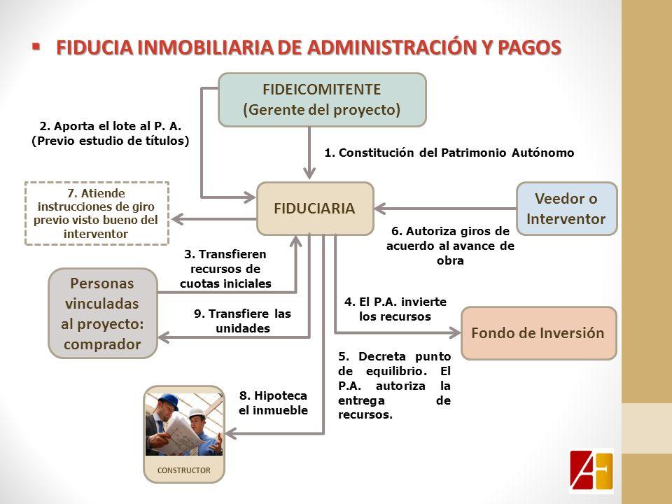 CONSTRUCTOR FIDUCIA INMOBILIARIA DE ADMINISTRACIÓN Y PAGOS FIDUCIA INMOBILIARIA DE ADMINISTRACIÓN Y PAGOS FIDUCIARIA FIDEICOMITENTE (Gerente del proye